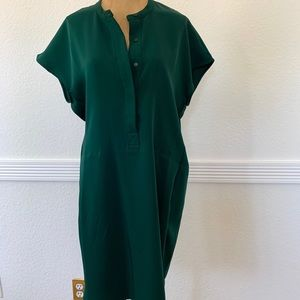Larry Levine Pullover T-Shirt Dress M Green